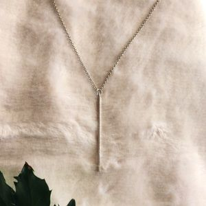 Silver icicle necklace